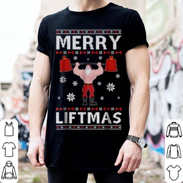 Nice Christmas Merry Liftmas Santa Fitness Gym Ugly Sweater shirt