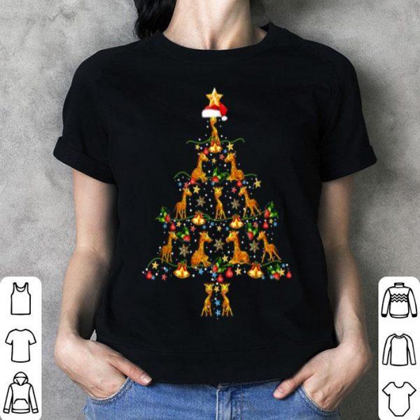 Nice Giraffe Ornament Decoration Christmas Tree Tee Xmas Gifts shirt