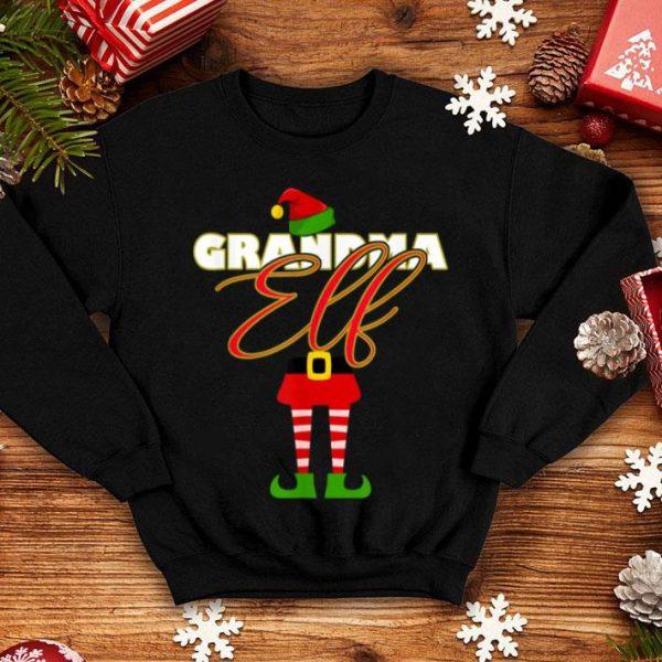 Nice Grandma Elf Christmas Matching Elves Family Group shirt