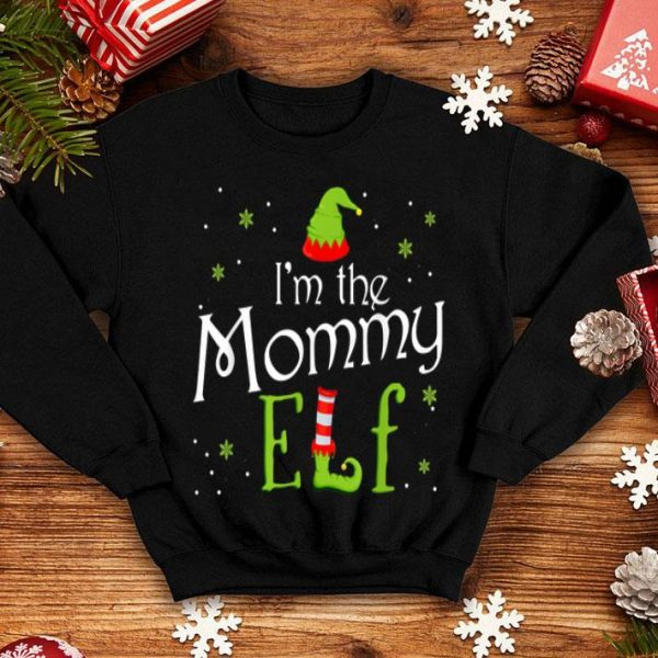Nice I'm The Mommy Elf Funny Group Matching Family Xmas Mom Gift shirt