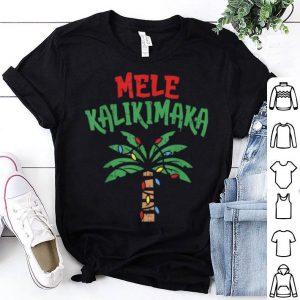 Nice Mele Kalikimaka Palm Tree Hawaiian Christmas In July shirt