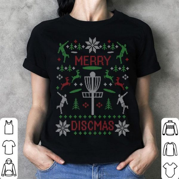 Nice Merry Discmas Disc Golf Ugly Christmas Sweater shirt