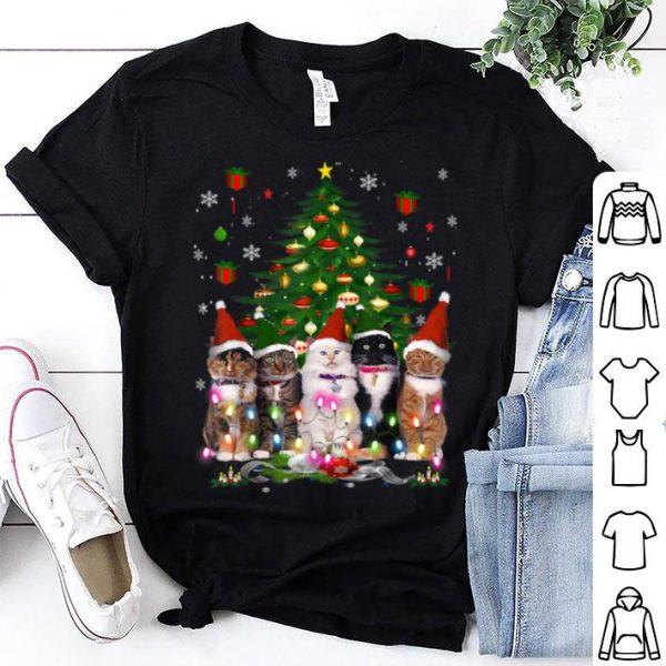 Official Cat Christmas Funny Meowy Christmas Tree Cat shirt