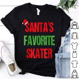 Official Santas Favorite Skater Funny Ugly Christmas Gift shirt