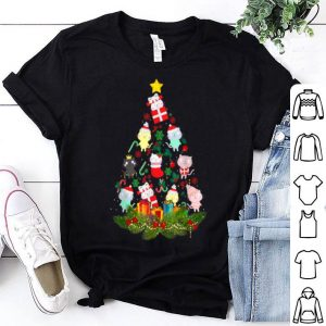 Original Cat Christmas Light Meowy Christmas Cute Kitten Xmas tree shirt