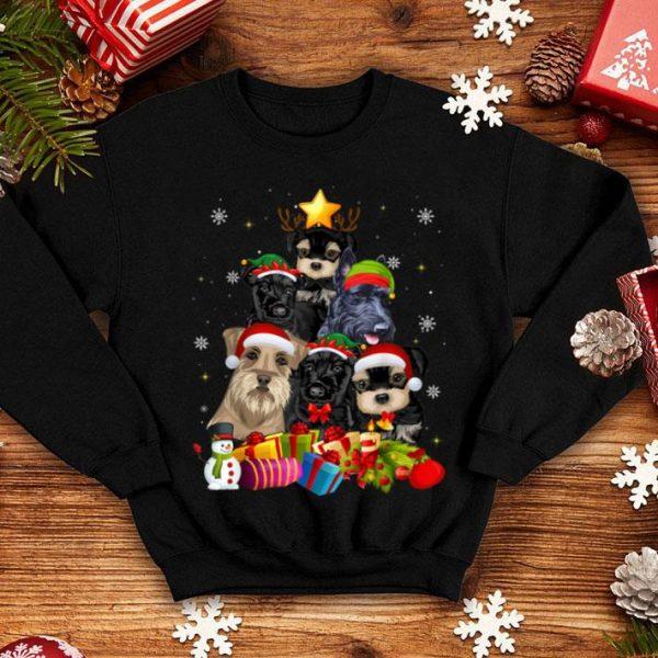 Original Schnauzer Christmas Tree Gifts Xmas shirt