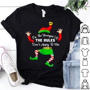 Original i'm the youngest elf The rules Don't apply to me xmas shirt