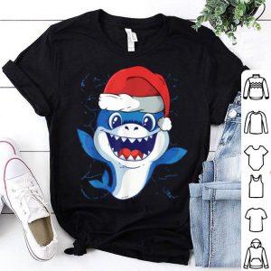 Premium Cute Christmas Baby Shark in a Santa Hat shirt