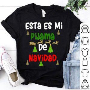 Premium Esta Es Mi Pijama De Navidad Gift for Christmas shirt