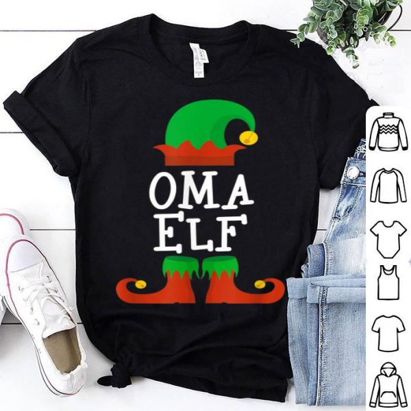 Premium Oma Elf Christmas Funny Xmas Gift sweater