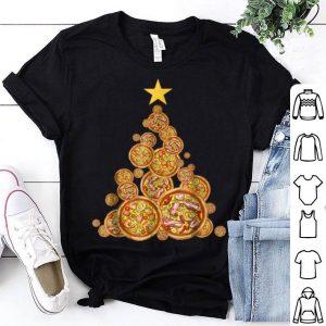 Premium Pizza Christmas Tree Pizza Lover Costume Pajama Tee shirt