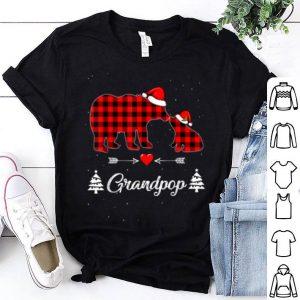 Premium Red Plaid Grandpop Bear Matching Buffalo Pajama Gift shirt