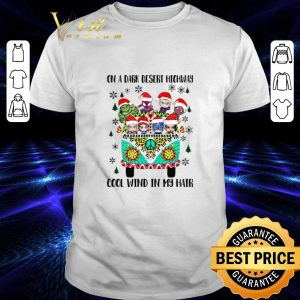 Pretty Avengers Hippie on a dark desert highway cool wind in my hair Christmas shirt
