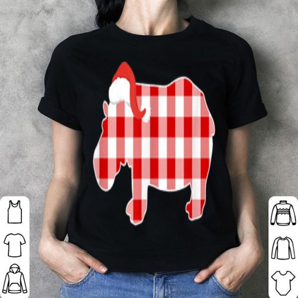 Pretty Christmas Buffalo Plaid Pajamas Hippo Xmas Holiday shirt
