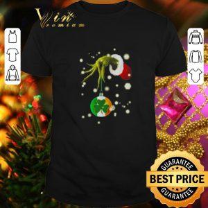 Pretty Grinch hold Shamrock Christmas shirt