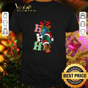 Pretty Ho Ho Ho Santa Horse Christmas shirt