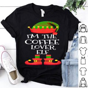 Pretty I'M THE Coffee Lover ELF Christmas Xmas Elf Group Costume shirt