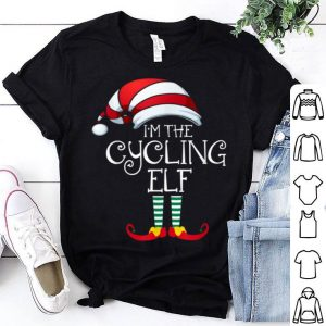 Pretty I'm The Cycling Elf Family Matching Christmas Gift Cyclist shirt