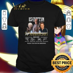 Pretty Led Zeppelin 52th anniversary 1968-2020 signatures thank you for the memories shirt