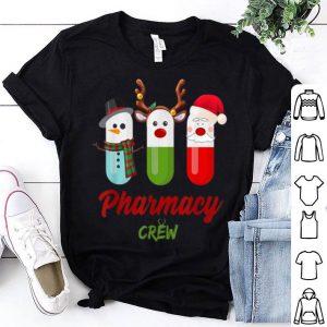 Pretty Pills Snowman Reindeer Santa Claus Pharmacy Crew Christmas shirt