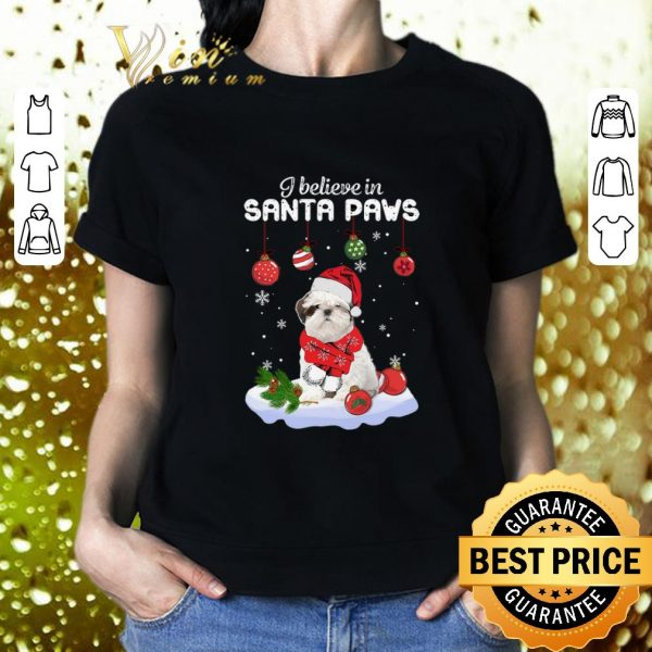 Pretty Shih Tzu i believe in Santa paws Christmas shirt