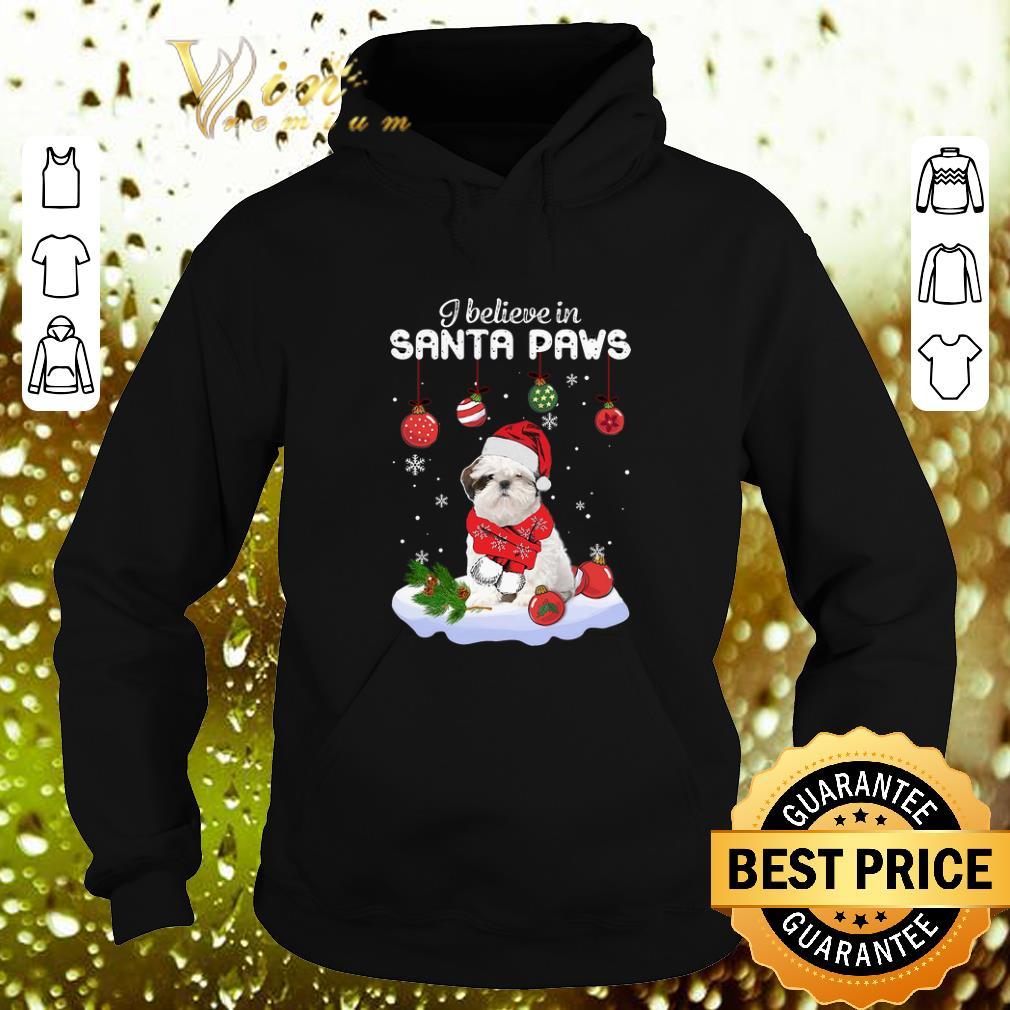 Pretty Shih Tzu i believe in Santa paws Christmas shirt 4 - Pretty Shih Tzu i believe in Santa paws Christmas shirt