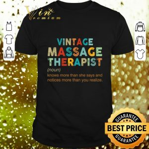 Pretty Vintage Massage Therapist knows more than she says and notices shirt
