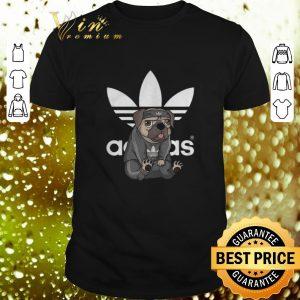 Pretty adidas logo pug dog shirt