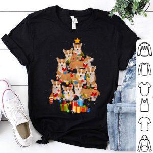 Top Corgi Christmas Tree Funny Corgi Christmas Pajama Gift shirt