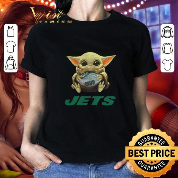Awesome Baby Yoda hug New York Jets Star Wars Mandalorian shirt