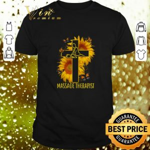 Awesome Butterfly Massage Therapist Christ Sunflower shirt