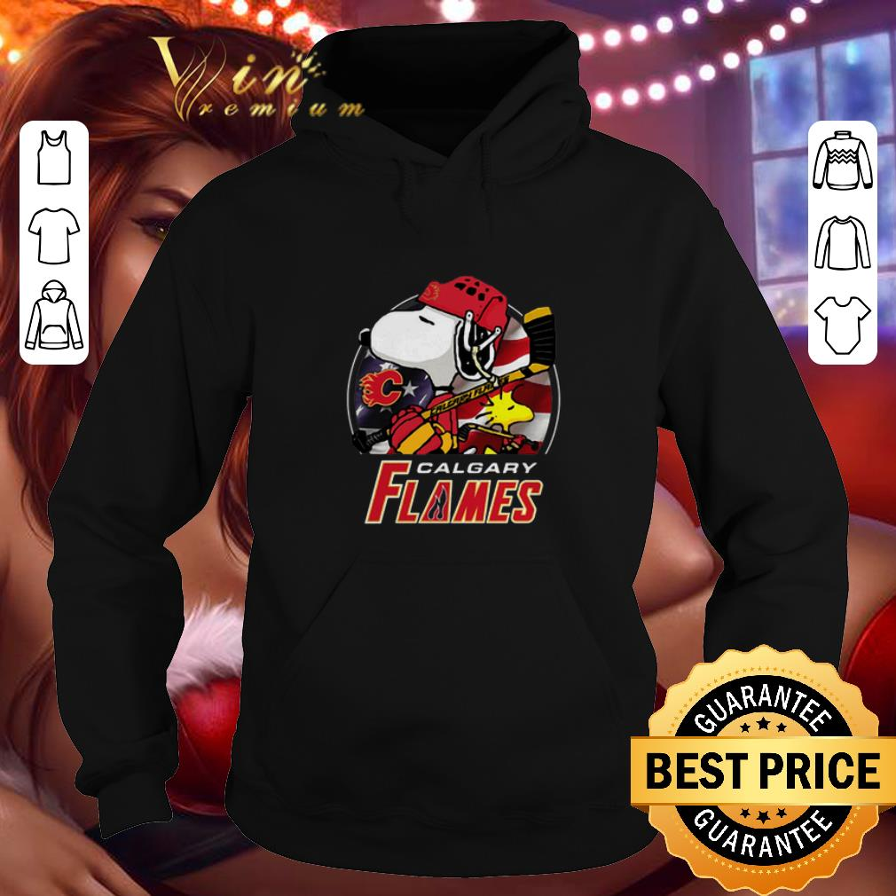 Awesome Calgary Flames Ice Hockey Snoopy and Woodstock shirt 4 - Awesome Calgary Flames Ice Hockey Snoopy and Woodstock shirt