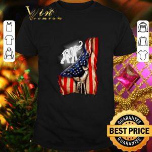 Awesome Elephant Trump American flag shirt