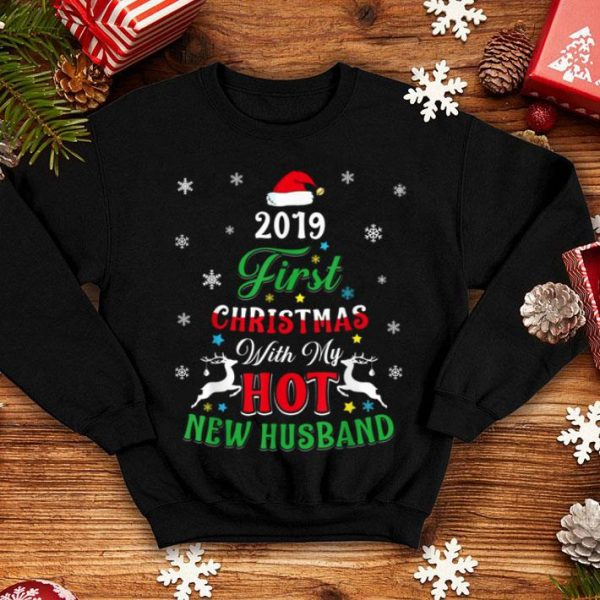 Awesome First Christmas With My Hot New Husband Gift 2019 sweater