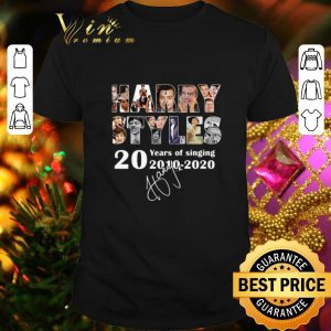 Awesome Harry Styles 20 years of singing 2010 2020 signature shirt