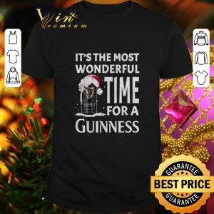 Awesome It's the most wonderful time for a Guinness beer Christmas shirt