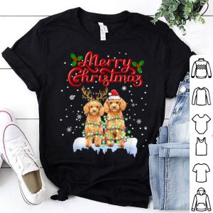 Awesome Poodle Christmas Lights Funny Dog Matching Family Xmas Gifts sweater