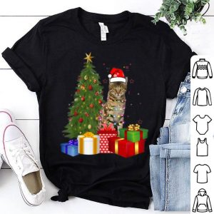 Awesome Santa Bengal Cat Christmas Tree Light Funny Xmas Cat sweater