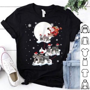 Awesome Santa Claus Riding Miniature Schnauzer Dogs Christmas sweater