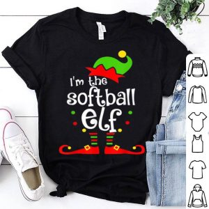 Awesome Softball Elf Christmas Funny Elfin Xmas Graphic Gift sweater