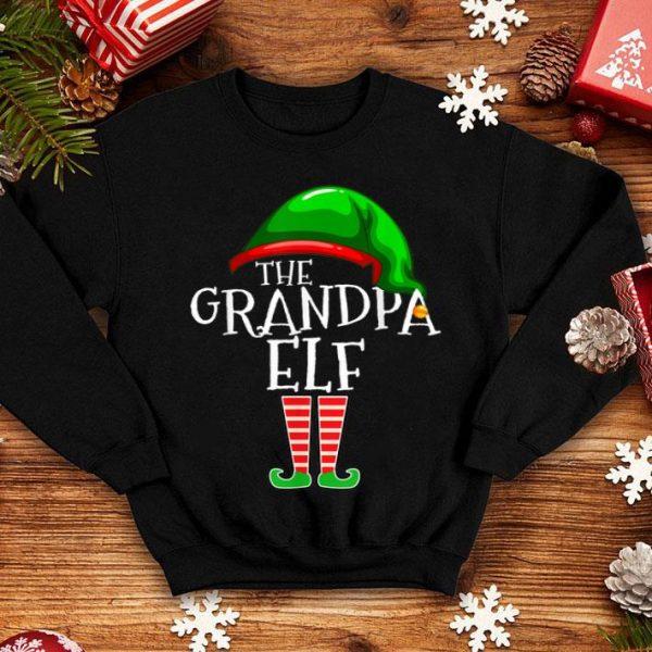 Beautiful Grandpa Elf Family Matching Group Christmas Gift Men Funny sweater