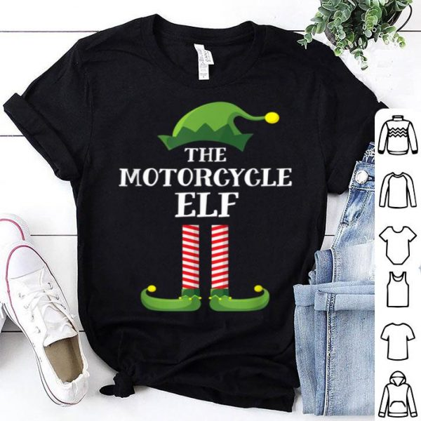 Beautiful Motorcycle Elf Matching Family Group Christmas Party Pajama sweater