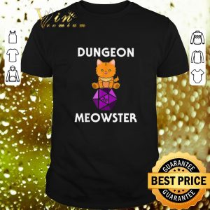 Best Nerdy Cat Dungeon Meowster D20 shirt