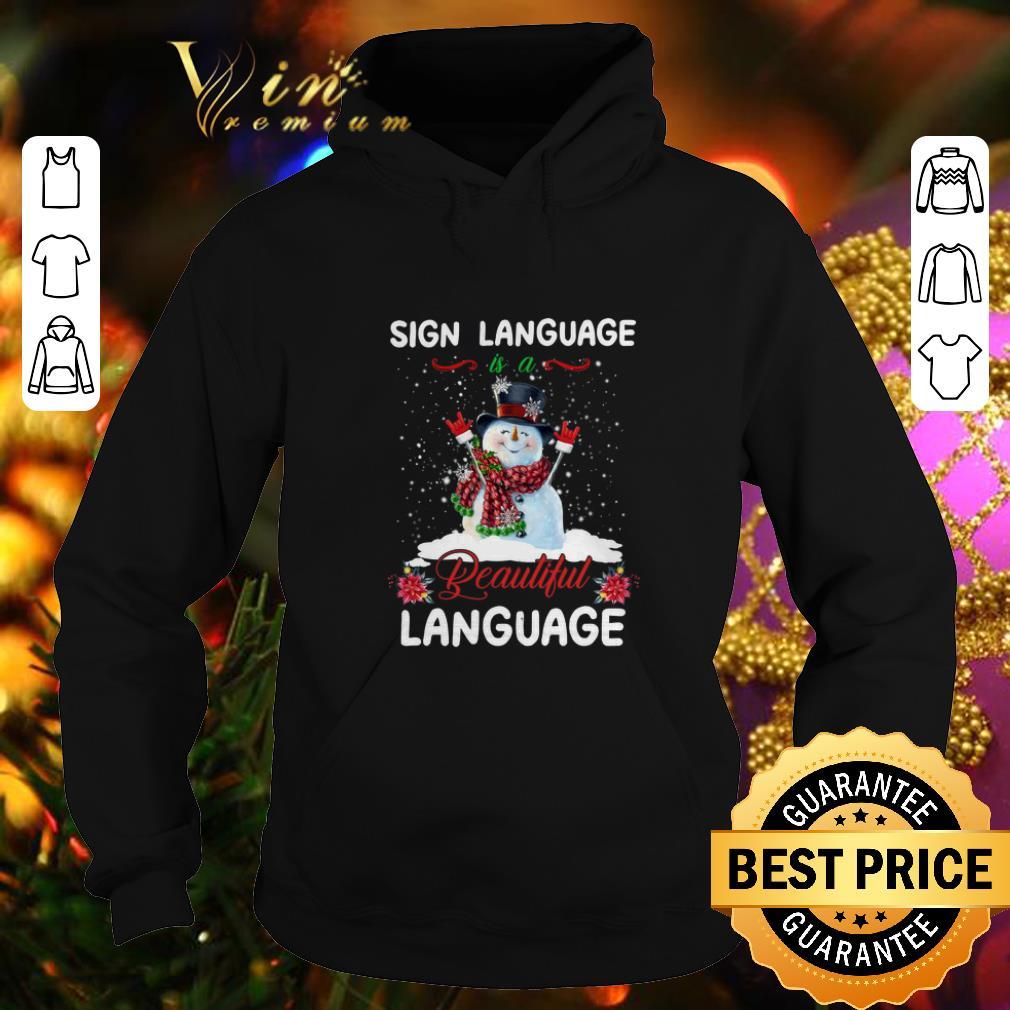 Best Snowman sign language beautiful language Christmas shirt 4 - Best Snowman sign language beautiful language Christmas shirt