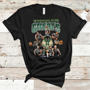 Hot Milwaukee Bucks All-time Greats NBA Players Team Signatures shirt