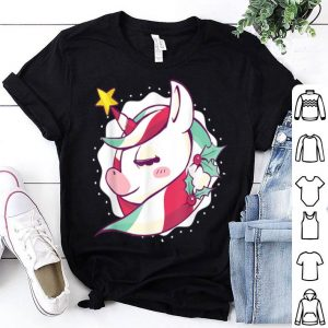Official Cute Unicorn Christmas For Girls sweater