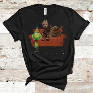 Original Baby Friends Baby Yoda Baby Groot And Baby Grinch shirt