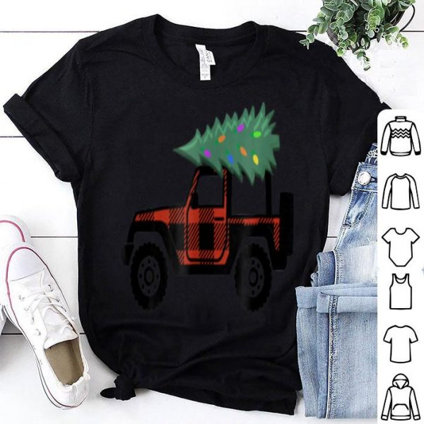 Original Buffalo Plaid Jeep Christmas sweater