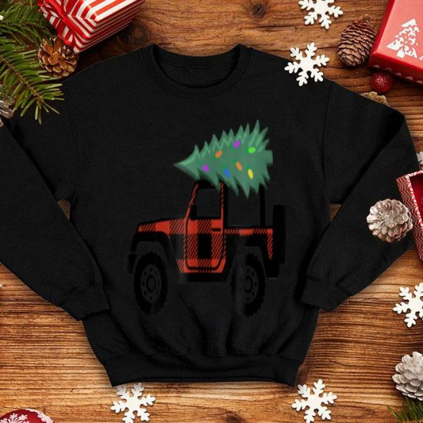 Original Buffalo Plaid Jeep Christmas sweater