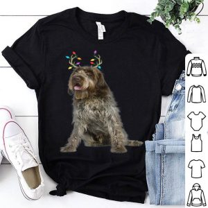 Premium Wirehaired Pointing Griffon Reindeer Christmas Dog sweater